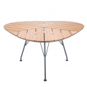 LEAF Table, Bamboo 146 x146 x 146 x 74,5. Powder coated grey metal legs.