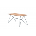 SKETCH Dining table 220 x 88 x 74 cm. Bamboo lamellas and powder coated grey metal frame.