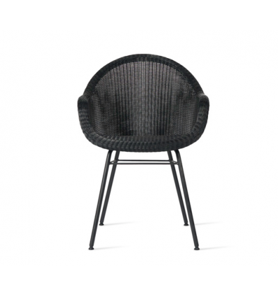 Edgard Dining Chair steel A base Black