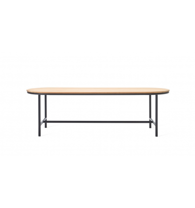 Contour table 250X90cm Charcaol/teak