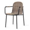 Wicked dining chair Charcaol/taupe