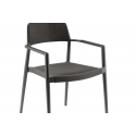 Chili dining armchair alu charc text antracite qdf