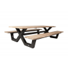 Bonucci pic nic table 280 Charcoal frame teak top