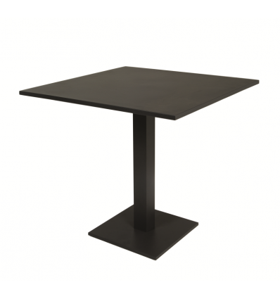 Prada dining Table folding top Alu Charcoal Mat