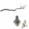 Suet bird feeder grey