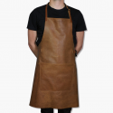 A BBQ-STYLE apron made of 100% leather