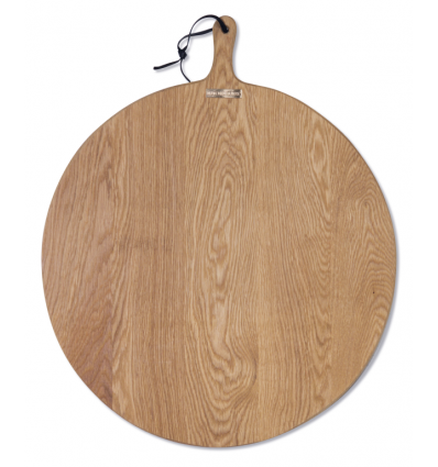 A XL round bread board made of solid oak