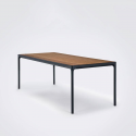 FOUR Table 210x90 cm. Black aluminum frame Bamboo lamellas.